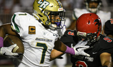 Davis four touchdowns leads Catawba Ridge to win over rival Nation Ford